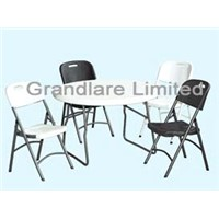 Outdoor folding Plastic Table and Chair GYZ115