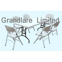 Outdoor folding Plastic Table and Chair set GYZ182