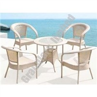 Outdoor garden PE wicker coffee table set GHY1054