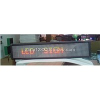 P7.62mm 16*90pixel R&G led moving signs