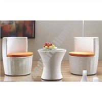 PE wicker coffee table set GGQ014