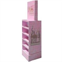 Pink Corrugated Cardboard Pallet Box Retail Products Display Stands