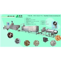 Puffed snacks food extruder