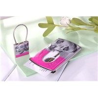 Pushed name card case and key chain set (Model:JWC028-18)