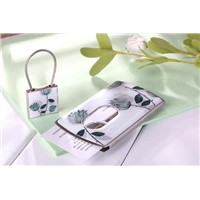 Pushed name card case and key chain set (Model:JWC028-20)
