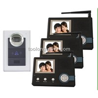 Rainproof wireless video door phone