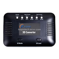 Real-time 2D to 3D Converter/HDMI Converter with Full Function Remote Control, HDMI Input and Output