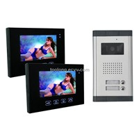 Touch Screen Color Video Door Phone for 2 Apartments