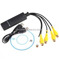 USB 4-Channel DVR Video Capture Adapter CCTV Camera