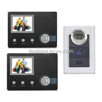 Villa-Type Wireless Video Intercom System with 2 Monitors / Wireless System