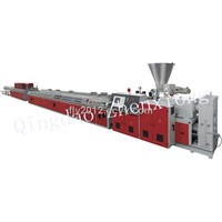 WPC wood plastic profile production line