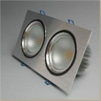 White/Silver 12W LED Ceiling Light