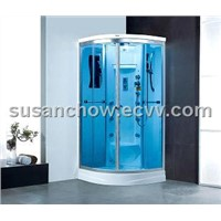 White luxury sauna steam room (G8018)