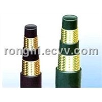 Wire spiraled hydraulic hose