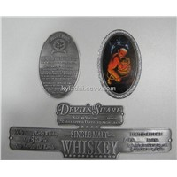aluminum wine label, Adhesive label,Whiskey label
