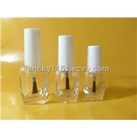 clear fashionable nail polish bottles with cap and brush