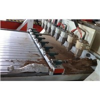 eight heads rotary wood cylinder engraving machine