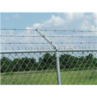 electro galvanized chain link fence (ISO 9001 factory )