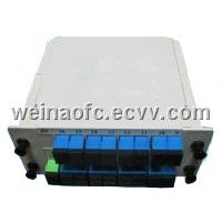 Fiber Optic  Card Insertion Box type PLC splitter SC/APC-SC/UPC