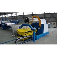 hydraulic decoiler,hydraulic decoiler, uncoiler with coil loading car,single head with coil arm