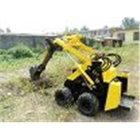 mini loader with digger