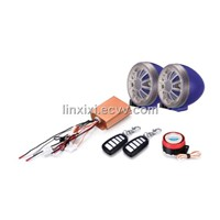 motorcycle alarm system with MP3&FM radio