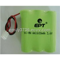 nimh rechargeable battery, AA1600mAh,3.6V