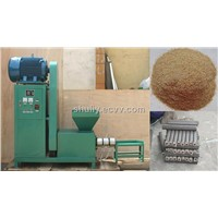sawdust briquette into sitck machine