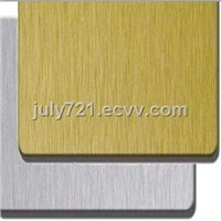 sell brushed curtain building materials aluminum composite panel PVDF PE coated