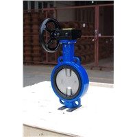 soft seal wafer butterfly valve with hand lever