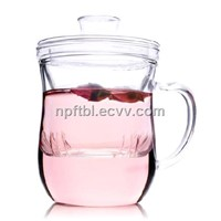 well designed glass cup with handle