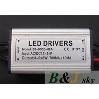 wholesale, 10w waterproof led driver; IP67,AC/DC12-24V