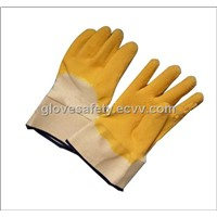 work gloves-latex coated gloves