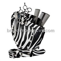 Zebra Hairdressers Leather Pouch