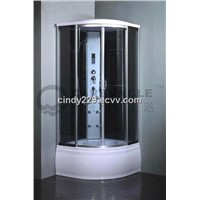 HOT! Carbuncle Quadrant Glass Shower Cabin with deep tray ZL2A80Z ZL2B90Z