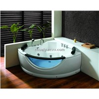 High quality whirlpool bathtub with glass decoration