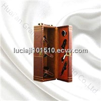 Up market PU leather gift wine boxes.