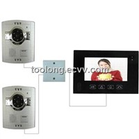 Video Intercom System With 2outdoor Unit for Villa +2pcs ABS Camera