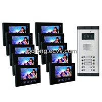 Video Intercom System for 10-apartments Home security