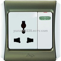 13A switched socket, universal socket