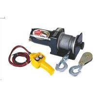 1500 LB 12V Portable ATV Electric Winch with pulley block