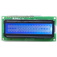 Blue film transflective display character lcd