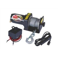 2000 lb line pull ATV Electric Winch with Mounting plate