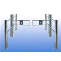 24V DC Automatic vertical swing barrier gate attched with barcode ticket access control