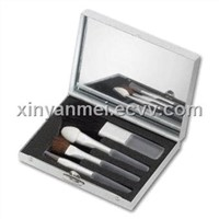 4pcs makeup brush set with a small mirror