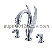 5 Holes Chrome swan Waterfall Bathtub Faucet (S-1007)