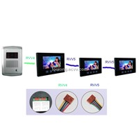 7 Inch Touch Video Intercom+3 Screens + Night Vision Camera