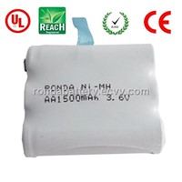 AA1500mAh HRMR 3.6V rechargeable nimh battery pack