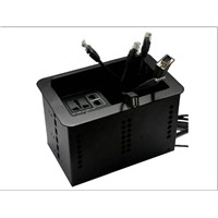AV desk outlets for office furniturer