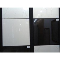 Acid - Resistant, Heat Insulation Super White Black Polished Ceramic Tile Nano